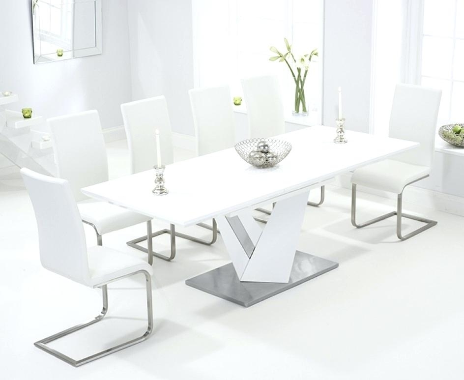 White Gloss Extending Dining Table Furniture Modern White Gloss With Current White Extendable Dining Tables (View 20 of 20)