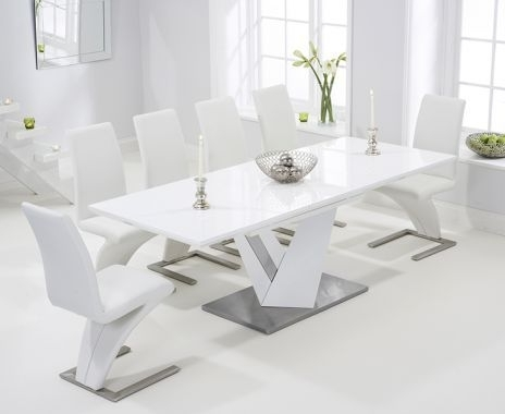 White Gloss Extending Dining Tables With Regard To Fashionable View Large Image Of Harmony 160Cm White High Gloss Extending Dining (View 17 of 20)