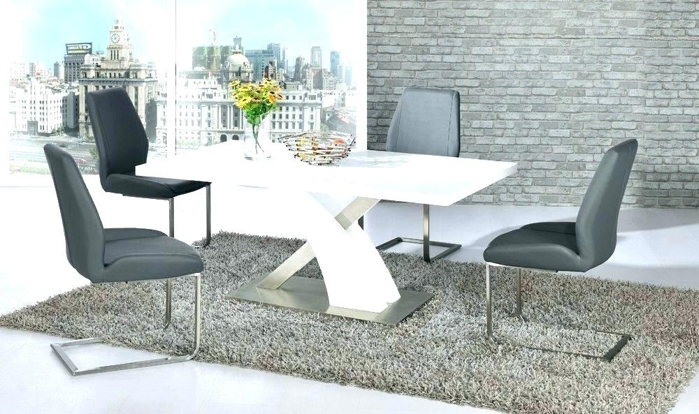 White Gloss Furniture High Gloss Dining Table Sets Great Furniture Intended For Famous Gloss Dining Sets (View 18 of 20)