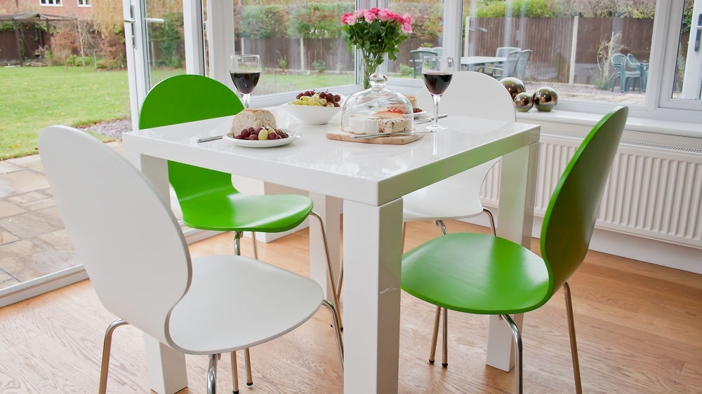 White Gloss Kitchen Dining Set (View 18 of 20)