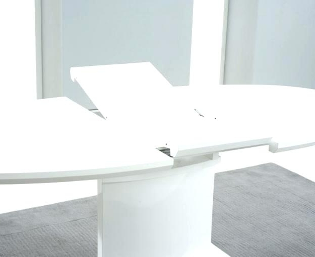 White Gloss Round Extending Dining Tables Pertaining To Famous White Gloss Extending Dining Table Furniture Modern White Gloss (View 8 of 20)