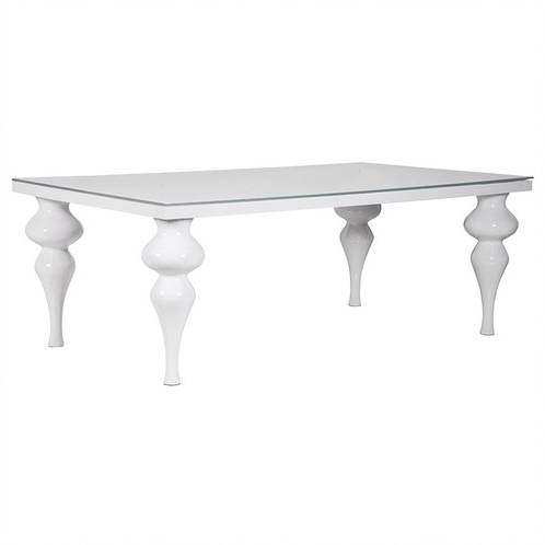 White Hi Gloss Dining Table Intended For Latest Hi Gloss Dining Tables (View 12 of 20)