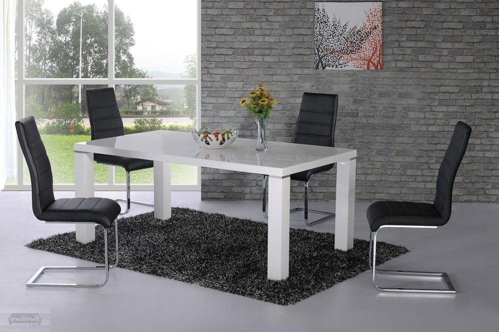 White High Gloss Dining Chairs Inside 2017 Price : £ (View 19 of 20)