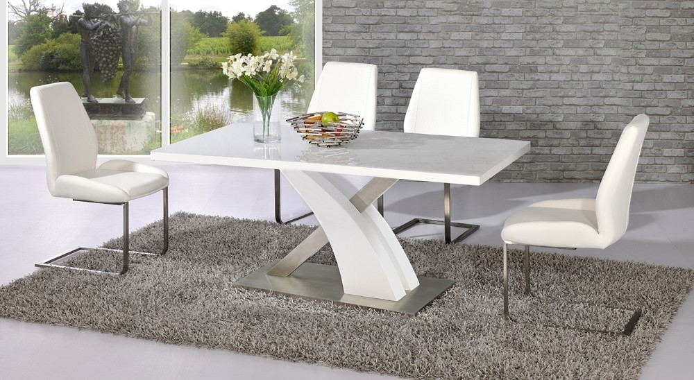 White High Gloss Dining Chairs With Regard To Current High Gloss Dining Table – Interior Design And Luxury Furniture (View 18 of 20)