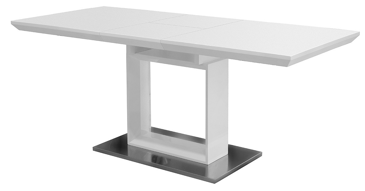 White High Gloss Extending Dining Table – Be Fabulous! For Most Popular Black Gloss Extending Dining Tables (View 19 of 20)