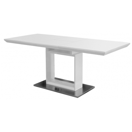 White High Gloss Extending Dining Table With Regard To Best And Newest High Gloss White Extending Dining Tables (View 18 of 20)