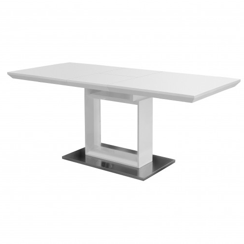 White High Gloss Extending Dining Table (View 20 of 20)