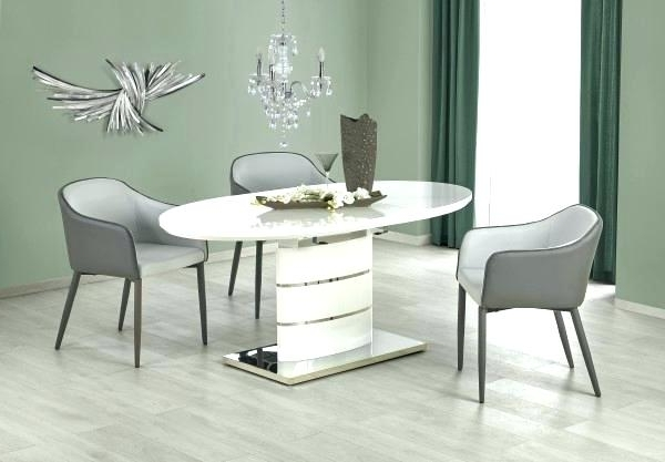 White High Gloss Oval Dining Tables Intended For Well Known White Oval Dining Table Tables – Mirstudios (View 13 of 20)