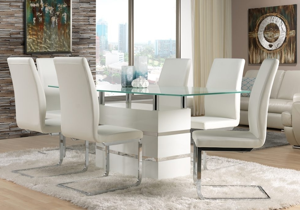 White Leather Dining Chairs To Spice Up Your Dining Room – Home For Well Known White Leather Dining Room Chairs (View 15 of 20)