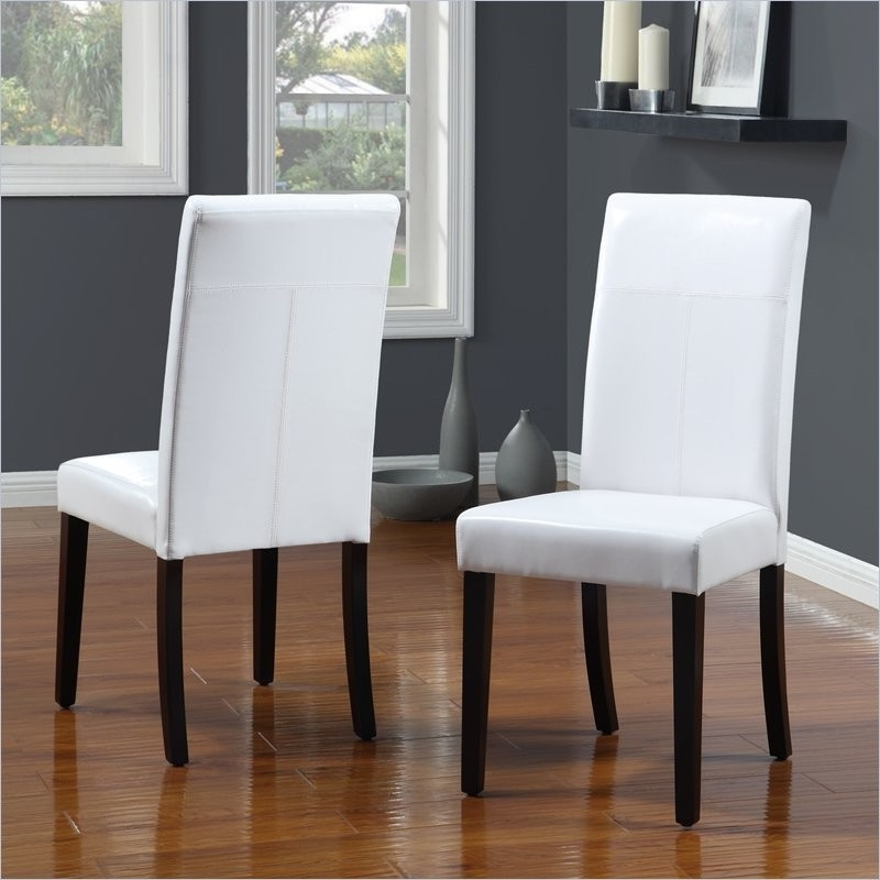 White Leather Dining Chairs To Spice Up Your Dining Room – Home With Most Recent White Leather Dining Room Chairs (View 16 of 20)