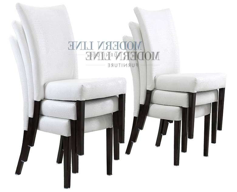 White Leather Dining Room Chairs With 2018 White Leather Dining Chairs To Spice Up Your Dining Room – Home (View 9 of 20)