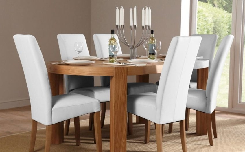 White Leather Dining Room Chairs Within Best And Newest Luxury Dining Chair White Leather White Chrome And Leather White (View 11 of 20)