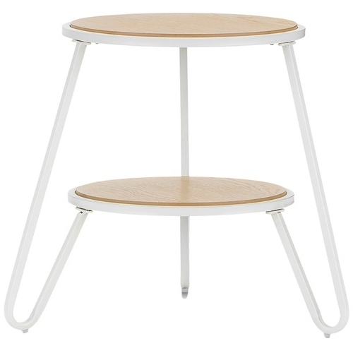 White Macy Round Side Table (View 8 of 20)