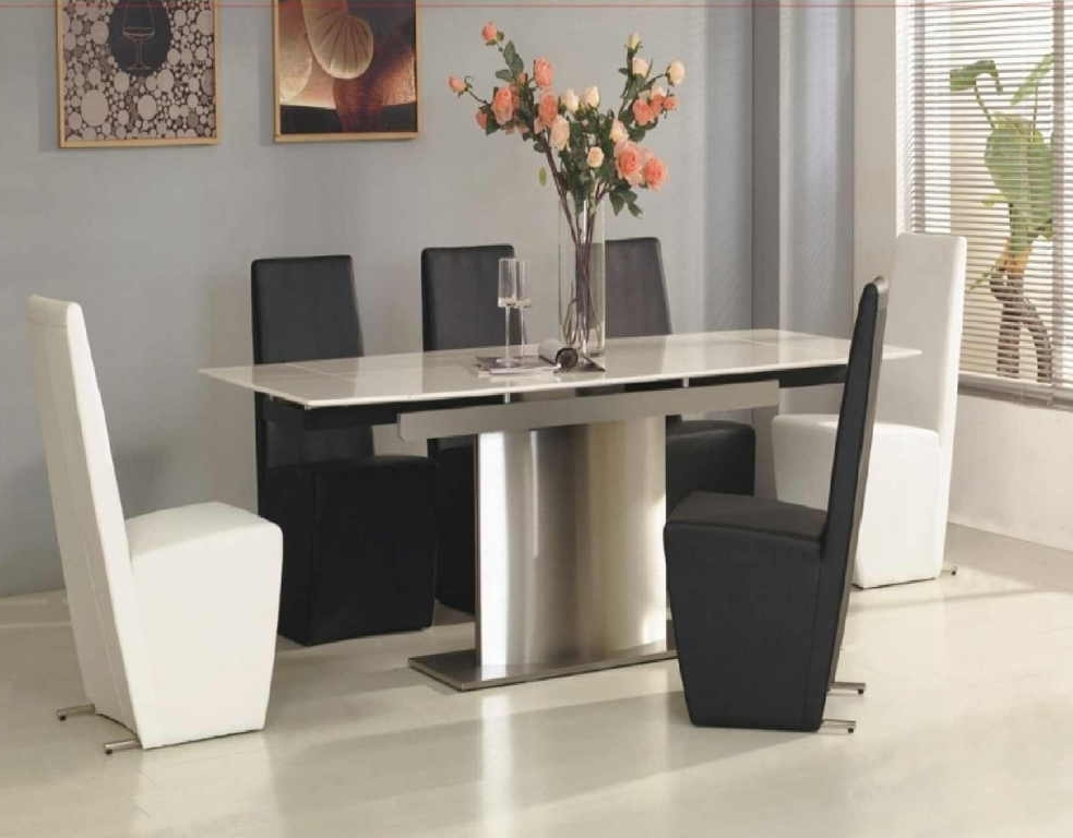 White Melamine Dining Tables Intended For Famous White Marble Dining Table Modern — Temeculavalleyslowfood (View 13 of 20)