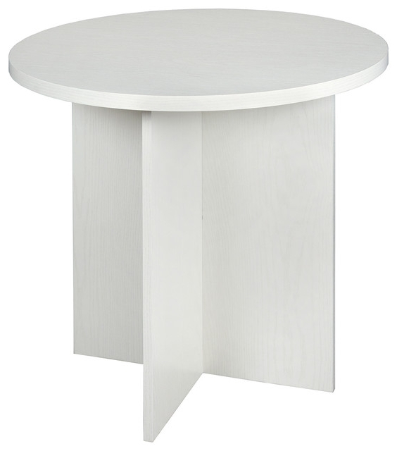 "White Melamine Dining Tables Intended For Fashionable Niche Mod 30"" Round Table – Contemporary – Dining Tables  Regency (View 14 of 20)"