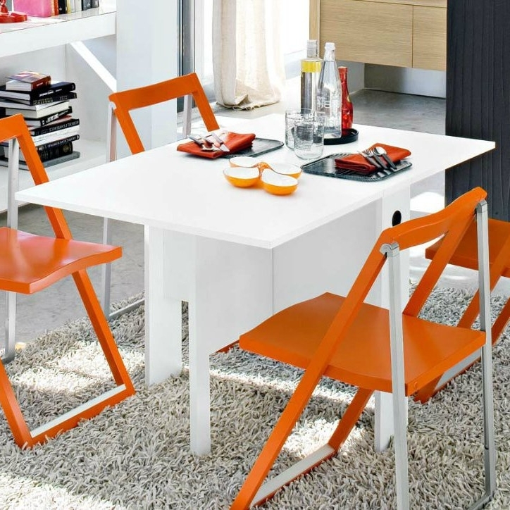 White Melamine Dining Tables With Favorite Lucca Folding Table (View 15 of 20)