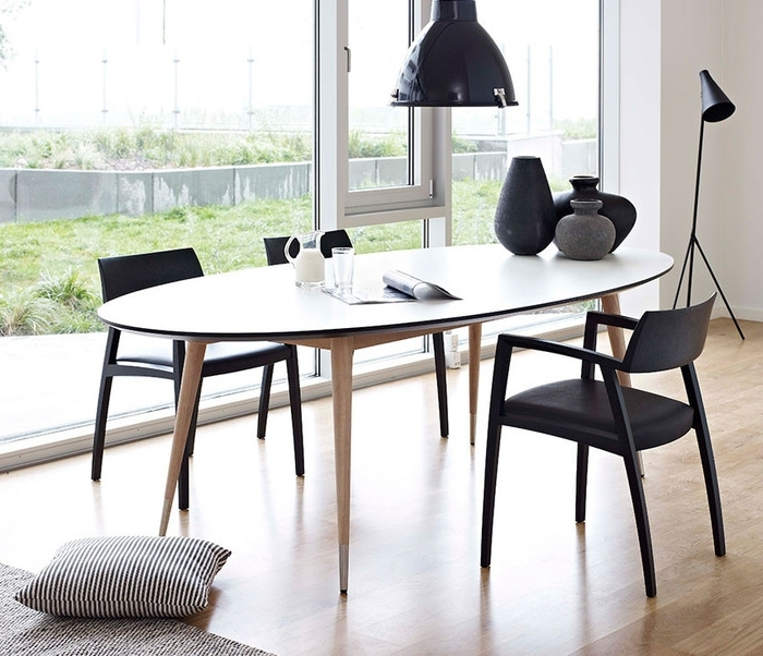 White Oval Extending Dining Tables Pertaining To Popular  (View 17 of 20)
