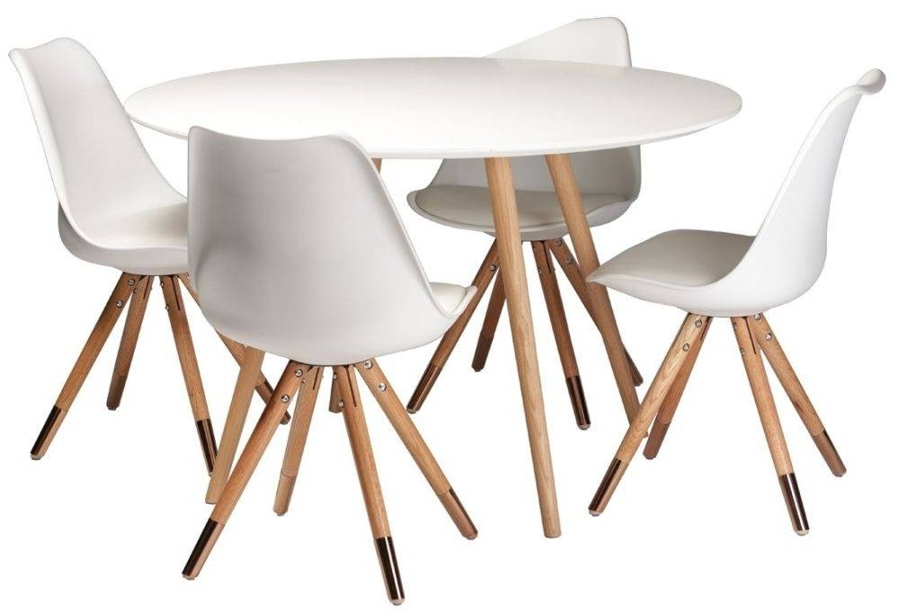White Round Dining Table Best Of Buy Orso White Top Round Dining Pertaining To Best And Newest Round Glass Dining Tables With Oak Legs (View 17 of 20)