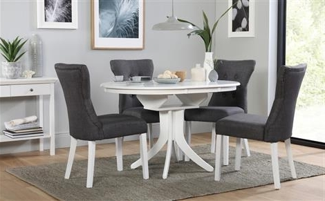 White Round Extendable Dining Tables Within Most Current Dining Table Sets – Dining Tables & Chairs (View 14 of 20)