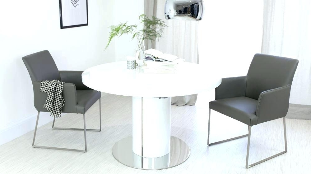 White Round Extending Dining Table – Emilytocco For Famous White Gloss Round Extending Dining Tables (View 6 of 20)