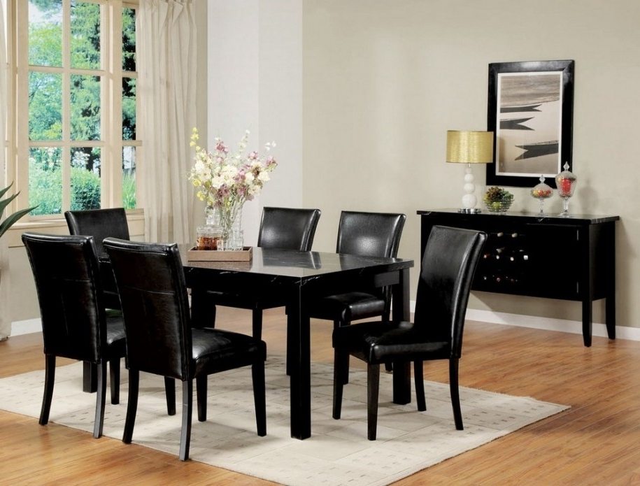 Why Black Dining Table : Ugarelay – Black Dining Table Furniture With Regard To Best And Newest Black Dining Tables (View 20 of 20)