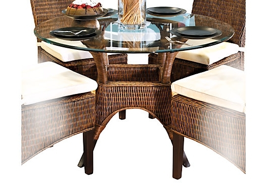 Wicker And Glass Dining Tables For 2017 Round Wicker Dining Table – House Plans And More House Design (View 6 of 20)