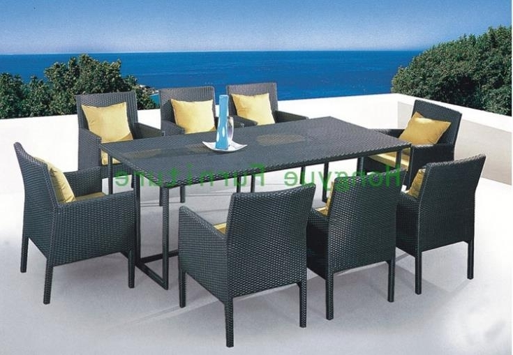 Wicker And Glass Dining Tables With Favorite Patio Rattan Dining Set With Cushion And Glass,wicker Dining Table (View 14 of 20)