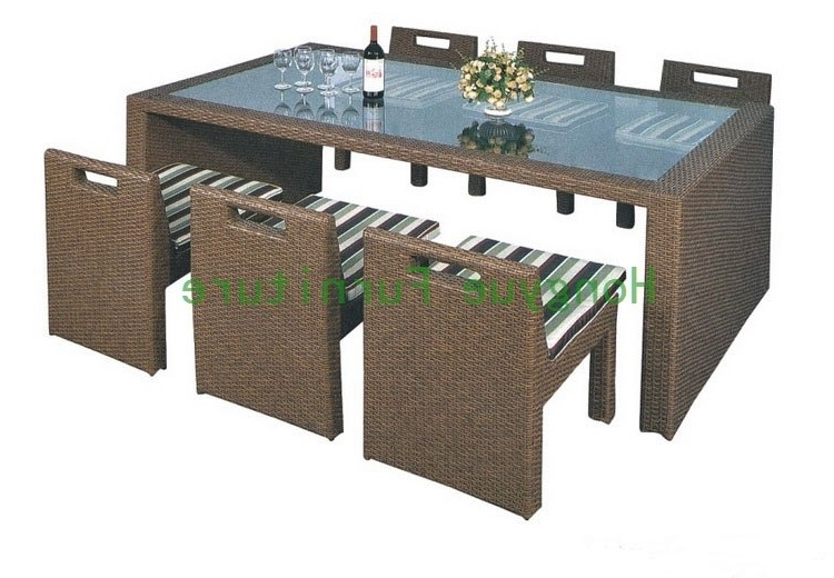 Wicker Dining Furniture Supplier,rattan Dining Table And Chairs In Throughout Recent Rattan Dining Tables (View 12 of 20)