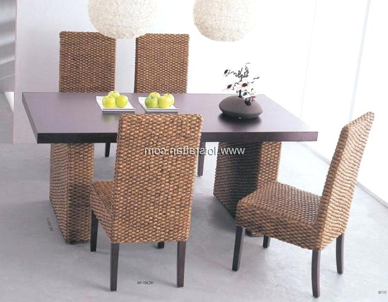 Wicker Dining Room Chairs Wicker Dining Room Chairs Warm Rattan Inside Best And Newest Rattan Dining Tables And Chairs (View 20 of 20)