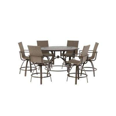 Wicker Patio Furniture – Outdoor Bar Furniture – Patio Furniture Regarding 2018 Delfina 7 Piece Dining Sets (View 20 of 20)