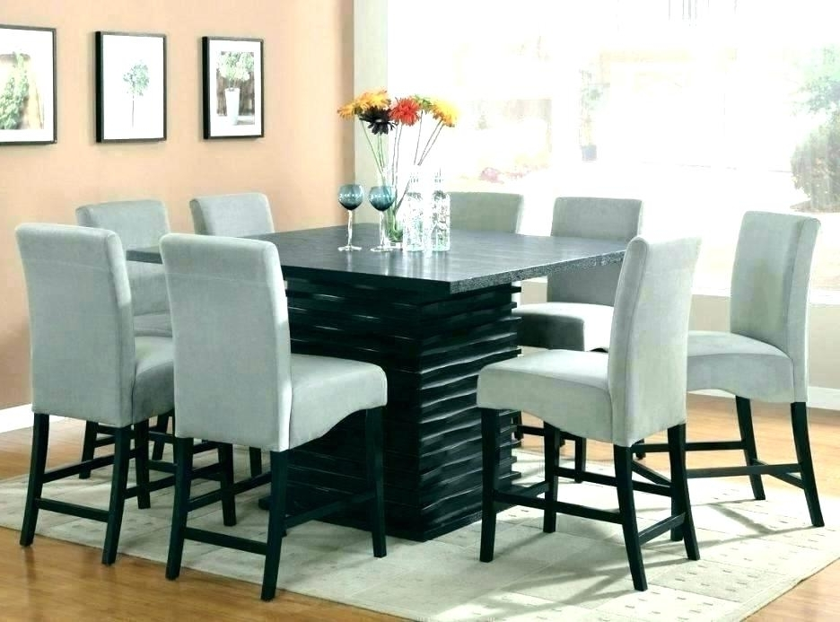Widely Used 8 Chairs Dining Tables Pertaining To Round Formal Dining Table For 8 Extendable Round Dining Table Set (View 19 of 20)