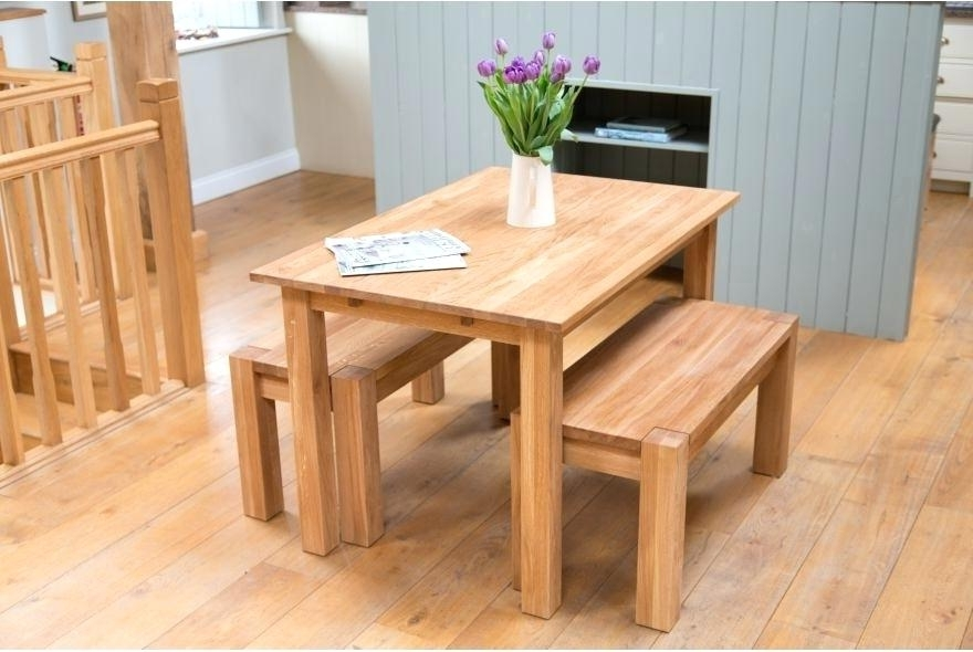 Widely Used Bench Set Dining Table – Purport Intended For Small Dining Tables And Bench Sets (View 7 of 20)