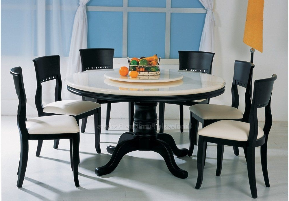 Widely Used Best Round 6 Seat Dining Table Round Kitchen Table With 6 Chairs For 6 Seat Round Dining Tables (View 20 of 20)