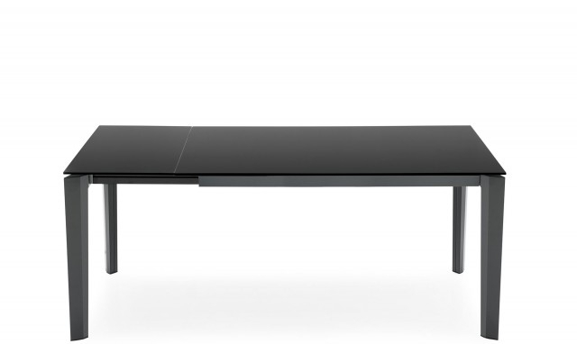 Widely Used Black Glass Dining Tables Intended For Calligaris – Frosted Glass Dining Table – Delta – Fishpools (View 16 of 20)