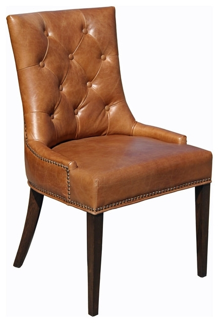 Widely Used Brown Leather Dining Chairs To Make Work In Your Interior With Brown Leather Dining Chairs (View 20 of 20)