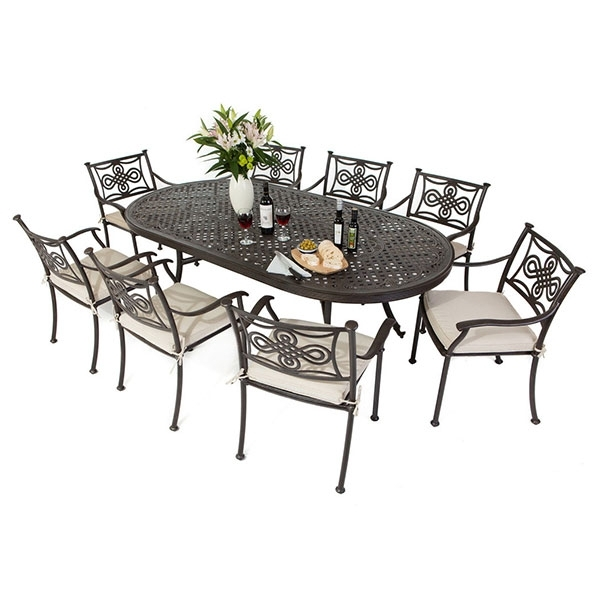 Featured Photo of 8 Seat Outdoor Dining Tables