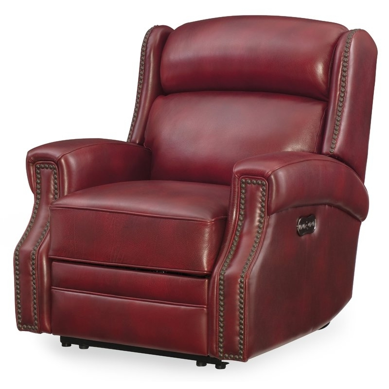 Widely Used Clyde Grey Leather 3 Piece Power Reclining Sectionals With Pwr Hdrst & Usb Within Hooker Furniture Carlisle Leather Power Recliner With Power Headrest (View 9 of 15)
