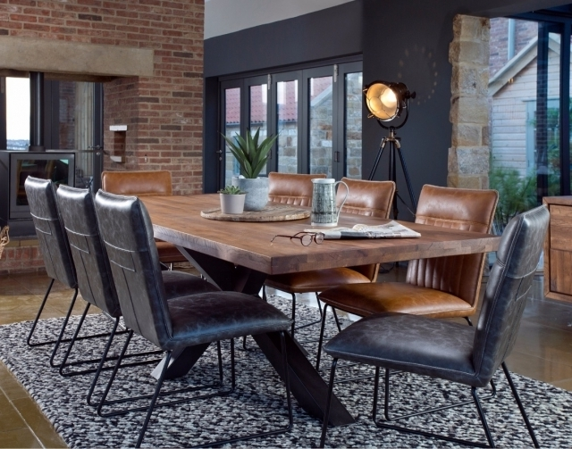 Widely Used Cooper Dining Tables Within Samba Solid Oak 200Cm Holburn Star Base Dining Table & 6 Cooper (View 20 of 20)