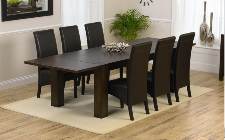 Widely Used Dark Wood Dining Table Sets (View 13 of 20)