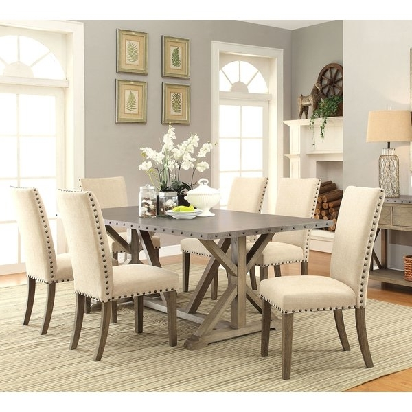 Widely Used Dining Room Tables And Chairs With Athens 7 Piece Dining Set & Reviews (View 2 of 20)
