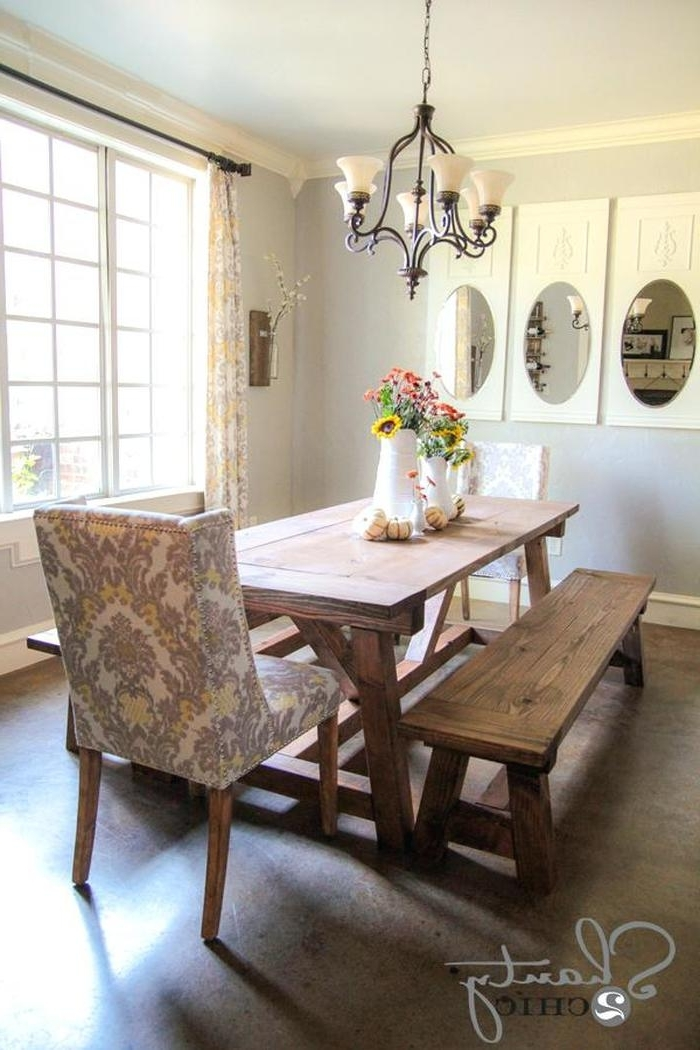 Widely Used Dining Tables And 2 Benches Inside  (View 20 of 20)