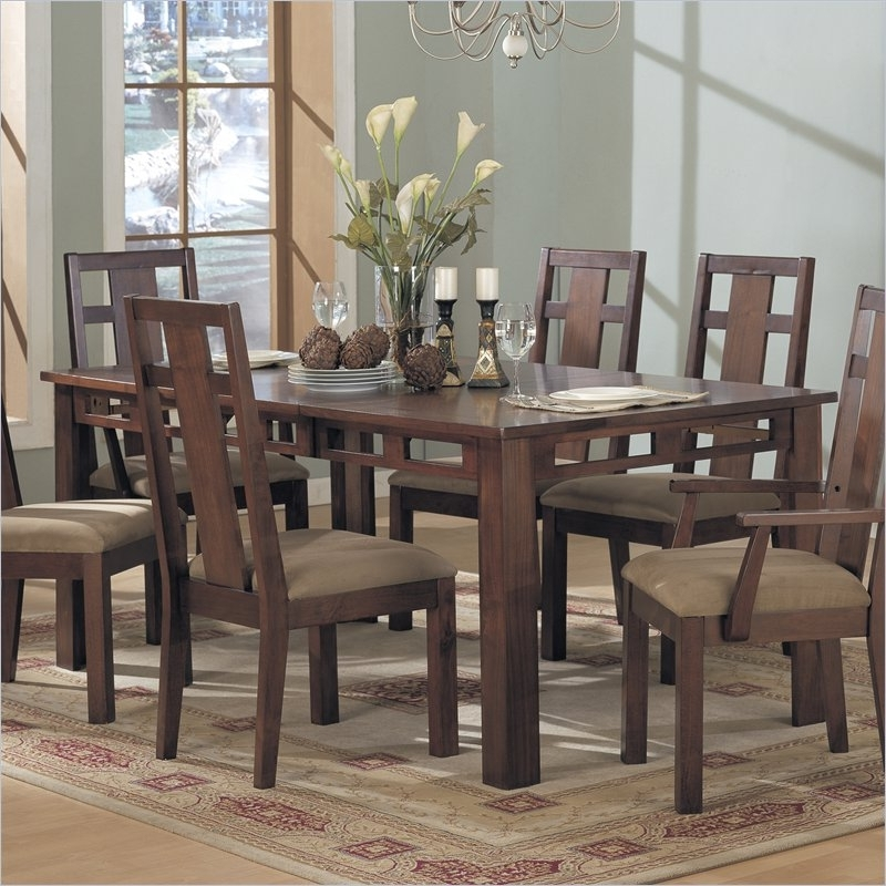 Widely Used Dining Tables With Large Legs Intended For Enchantment Rectangular Casual Dining Table In Rich Cappuccino (View 20 of 20)