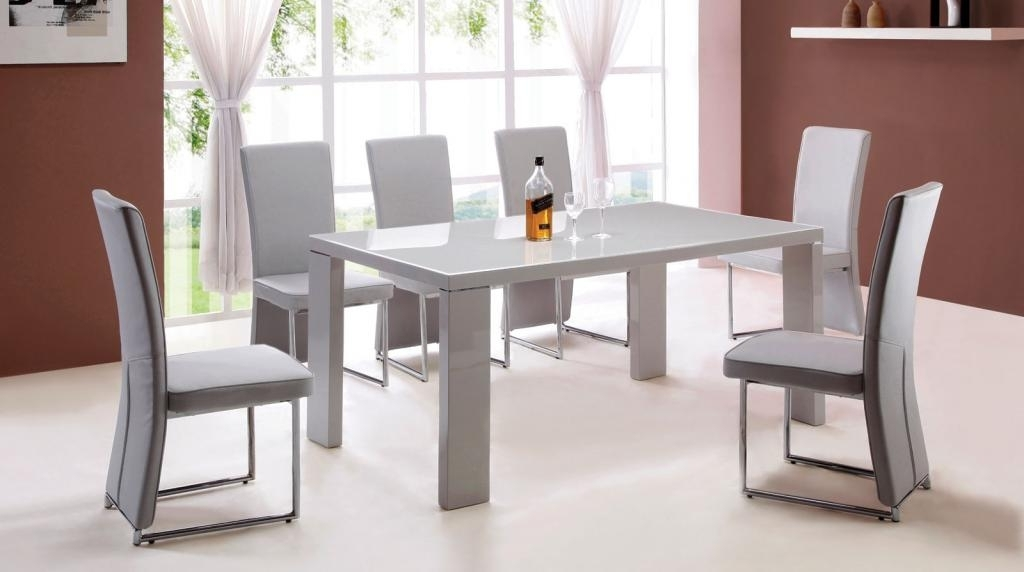 Widely Used Gloss Dining Set Within 25 Hi Gloss Dining Table Sets, Modern Round White High Gloss Clear (View 18 of 20)