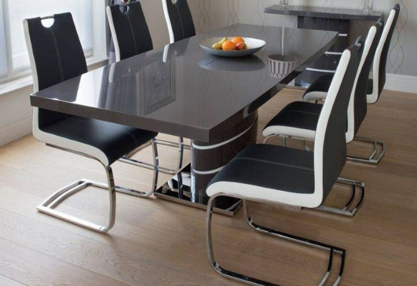 Widely Used Grey Dining Tables Pertaining To Greenapple Furniture – Rimini Lacquered Gloss Grey Or White (View 20 of 20)