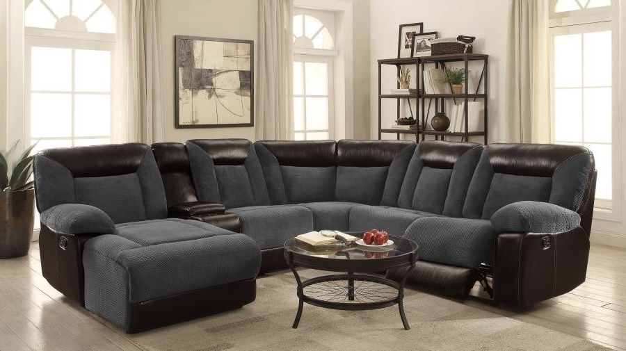 Widely Used Grey Reclining Sectional – Implantologiabogota (View 15 of 15)