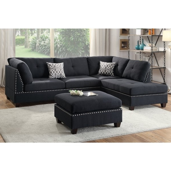 Widely Used Haven Blue Steel 3 Piece Sectionals For Shop Lili Sectional Sofa 3 Piece Set With Ottoman – Free Shipping (View 11 of 15)