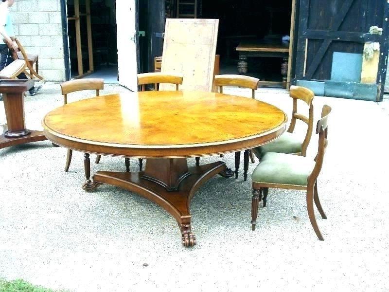 Widely Used Huge Round Dining Tables Pertaining To Dining Table Seats 10 Dining Room Table Seat Large Round Dining (View 20 of 20)