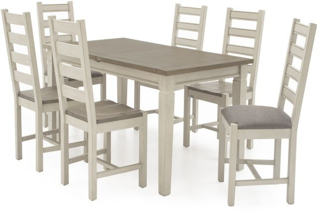 Widely Used Ivory Painted Dining Tables Intended For Vida Living Craft Grey And Ivory Painted (View 18 of 20)