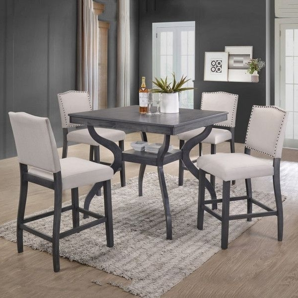 Featured Photo of Jameson Grey 5 Piece Counter Sets