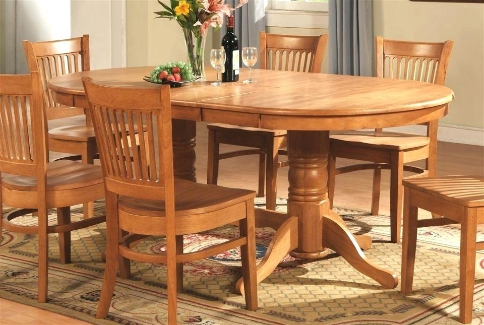 Widely Used Light Oak Dining Tables And Chairs Within Oak Dining Room Chairs Within Furniture Amazing Table And Ideas  (View 19 of 20)